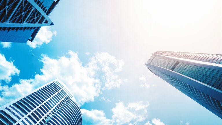 Architecture blue sky buildings Life HD Wallpaper 1366x768 768x432